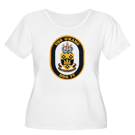 USS O'Kane DDG-77 Women's Plus Size Scoop Neck T-S