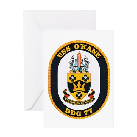 USS O'Kane DDG-77 Greeting Card