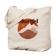 BikerGirl Morning Sky / Sunset Sky Tote Bag