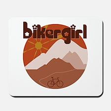 BikerGirl Sunset Sky Mousepad
