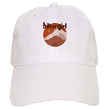 BikerGirl Sunset Sky Baseball Cap