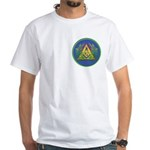 Masonic Acacia & Pyramid White T-Shirt