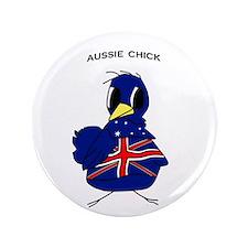 """Aussie Chick 3.5"""" Button"""