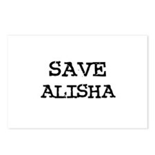 Save Alisha Postcards (Package of 8)