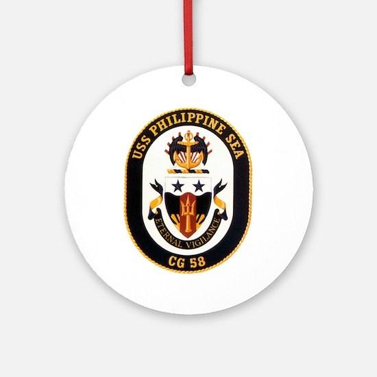 USS Philippine Sea CG-58 Ornament (Round)