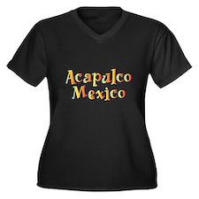 Acapulco Mexico - Women's Plus Size V-Neck Dark T-