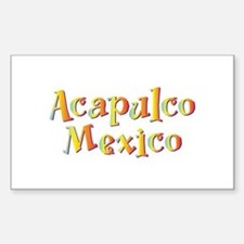 Acapulco Mexico - Rectangle Decal