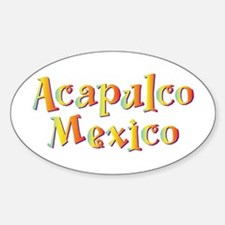 Acapulco Mexico - Oval Decal