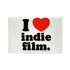 I Love Indie Film Rectangle Magnet