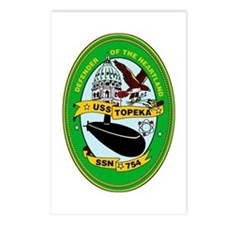 USS Topeka SSN-754 Postcards (Package of 8)