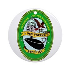 USS Topeka SSN-754 Ornament (Round)