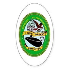 USS Topeka SSN-754 Oval Decal
