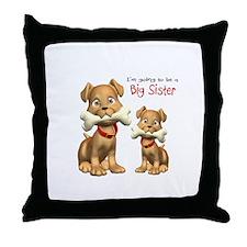 Dogs Big Sister Throw Pillow
