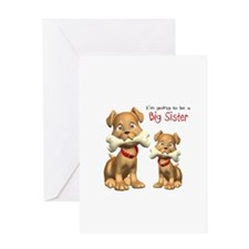 Dogs Big Sister Greeting Card