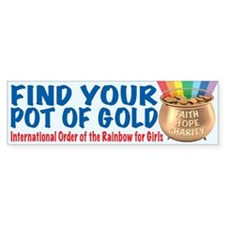 IORG-Pot of Gold Bumper Bumper Sticker