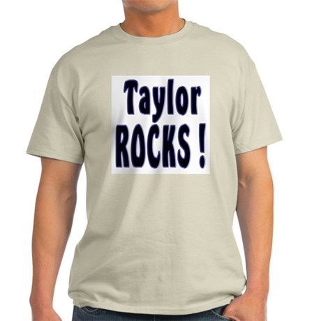 Taylor Rocks ! Ash Grey T-Shirt