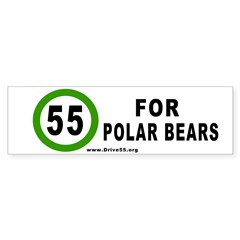 55 for Polar Bears Bumper Bumper Sticker