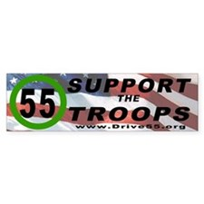 Drive 55 Support the Troops 2 (Bumper)