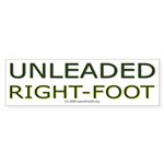 Unleaded Right Foot Bumper Sticker (10 pk)