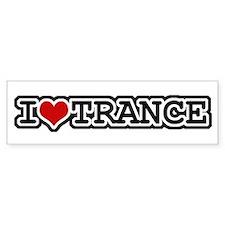 I Love Trance Bumper Car Sticker