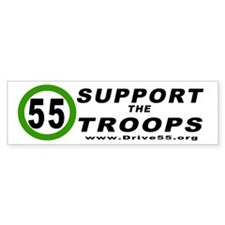Drive 55 Support the Troops (Bumper)