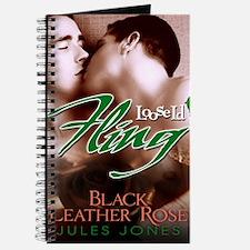 Black Leather Rose Journal