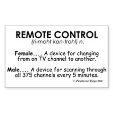 Meaning of Remote Control Rectangle Decal