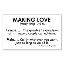 Meaning of Making Love Rectangle Decal