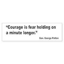 Patton Courage Fear Quote Bumper Bumper Sticker