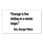 Patton Courage Fear Quote Rectangle Sticker 10 pk