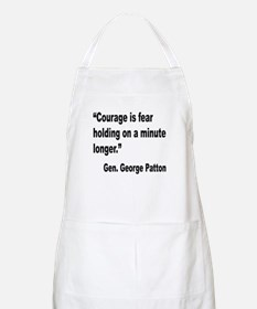 Patton Courage Fear Quote BBQ Apron