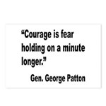 Patton Courage Fear Quote Postcards (Package of 8)