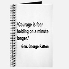 Patton Courage Fear Quote Journal