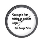 Patton Courage Fear Quote Wall Clock