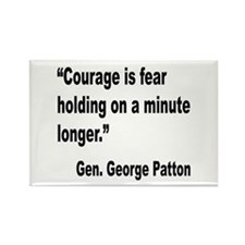 Patton Courage Fear Quote Rectangle Magnet