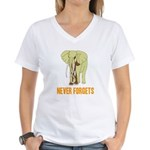 Never Forgets Women's V-Neck T-Shirt