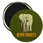 "Never Forgets 2.25"" Magnet (10 pack)"