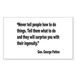Patton Ingenuity Quote Rectangle Sticker 10 pk)