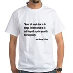 Patton Ingenuity Quote White T-Shirt