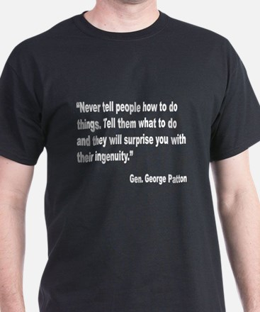 Patton Ingenuity Quote (Front) T-Shirt
