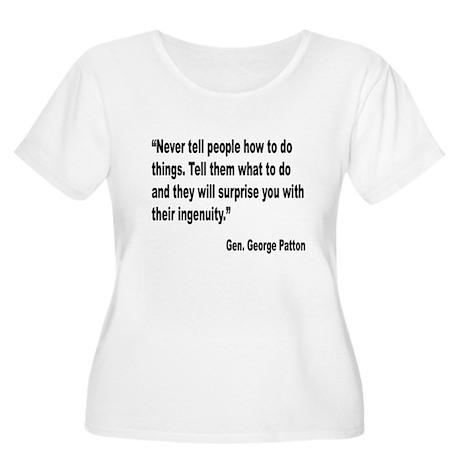 Patton Ingenuity Quote (Front) Women's Plus Size S