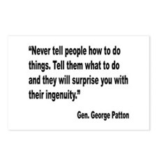 Patton Ingenuity Quote Postcards (Package of 8)
