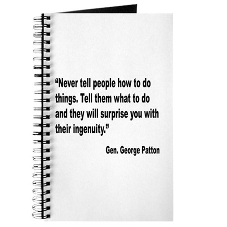 Patton Ingenuity Quote Journal