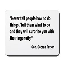 Patton Ingenuity Quote Mousepad