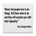 Patton Ingenuity Quote Tile Coaster