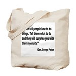 Patton Ingenuity Quote Tote Bag