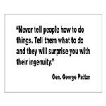 Patton Ingenuity Quote Small Poster