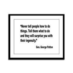 Patton Ingenuity Quote Framed Panel Print