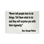 Patton Ingenuity Quote Rectangle Magnet (10 pack)