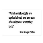 Patton Cynical People Quote Postcards (Package of